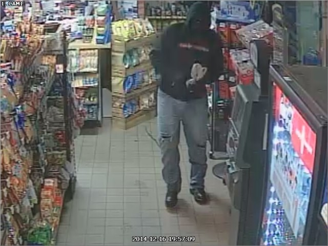 Surveillance Footage of the Robbery Suspect