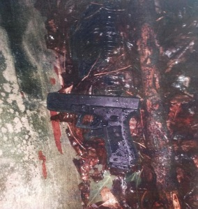 Photo of the gun that Clark was carrying