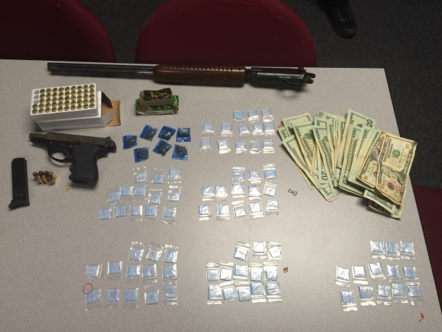 Pictured: items seized during traffic stop